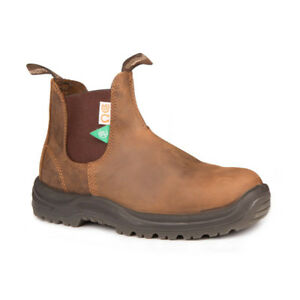 Size 10.5 (9.5 Australian) Brown Steel Toe Blundstones