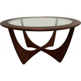 Classic mid century 1960' round coffee table