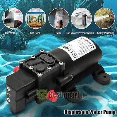 Dc12v Water Pump Diaphragm Self Priming Rv Marine Boat Shower Auto Switch 130psi