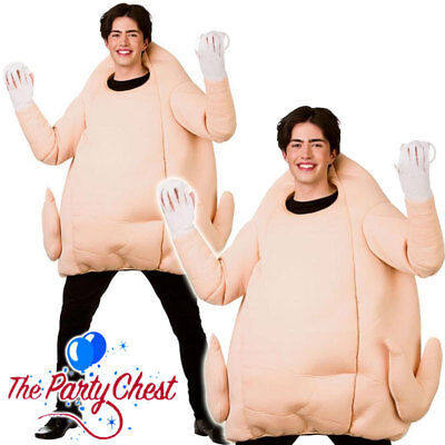 ADULT GIANT TURKEY COSTUME Funny Christmas Thanksgiving Fancy Dress Outfit 4576 - Funny Thanksgiving Costumes