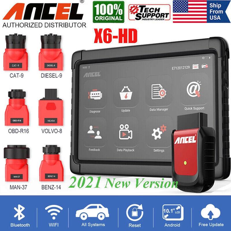 ANCEL X6 HD Heavy Duty Truck OBD Scanner Diagnostic Full System ABS DPF Oil SRS