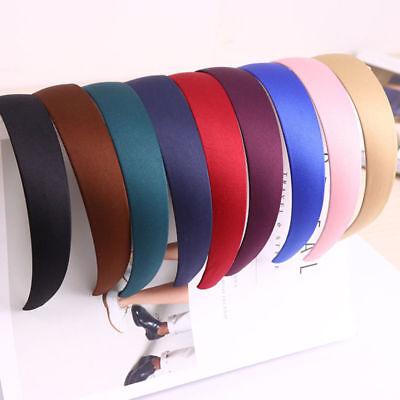 Bulk Womens Sweet Wide Plastic Headband Hair Band Accessory Satin Headwear Gifts (Bulk Headbands)