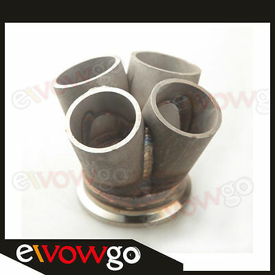 "2.5"" V-Band Vband 4-1 4 Cylinder Manifold Header Merge Collector Stainless Steel"