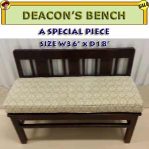 DEACON'S BENCH - SOLID MAHOGANY / GREAT CONDITION