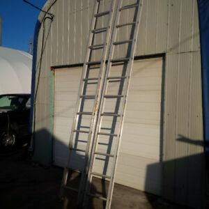 16''straight aluminum ladders (two) $500.00 FOR BOTH GRADE 1