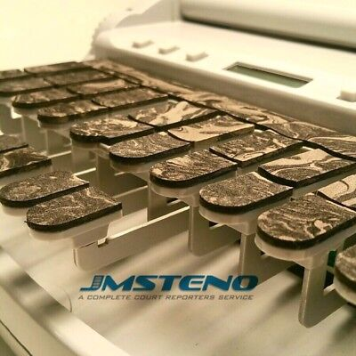 Steno Writer Chocolate Marble Swirl Keytop Covers