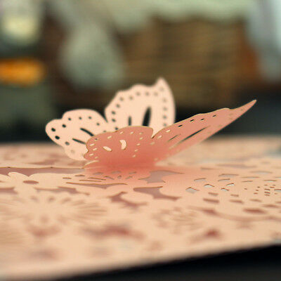 Exquisite Hollow Laser Cut Butterfly Wedding Invitation Cards Greeting - Butterfly Invitations