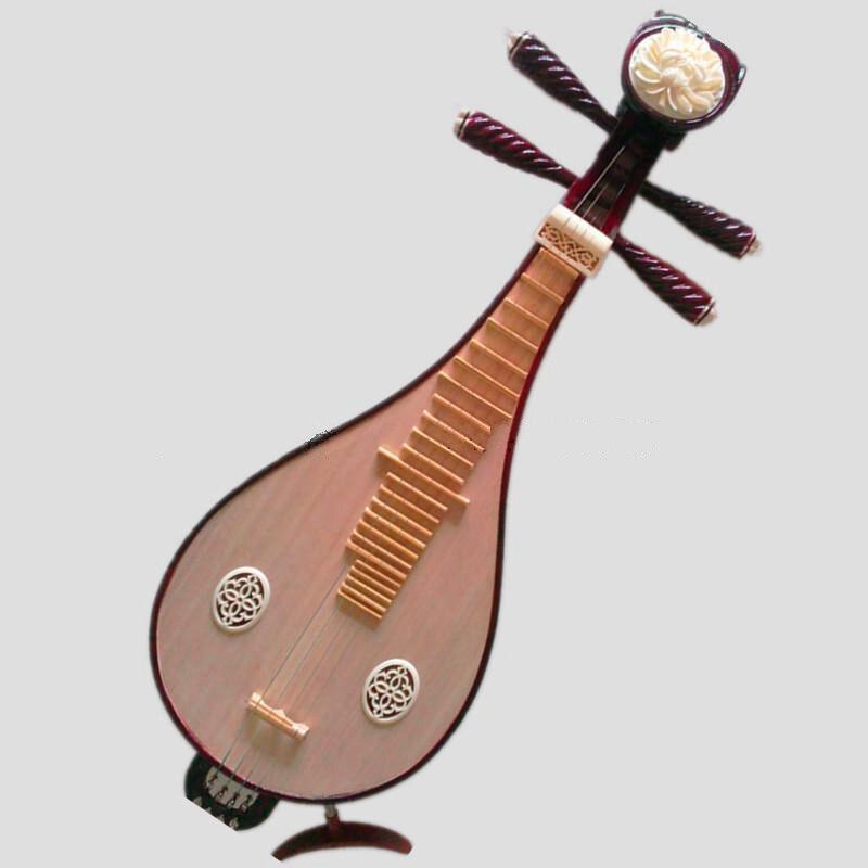 New hardwood Liuqin, Chinese Soprano Pipa Lute Guitar Musical Instrument #4031