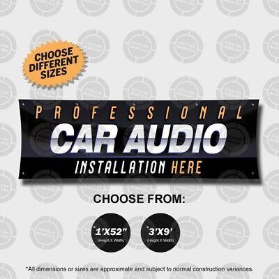 PROFESSIONAL CAR AUDIO Installation Banner Sign Display Auto Custom Sound Amp