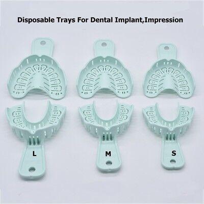 Dental Implant Disposable Plastic Impression Trays Set Large M Small Rim Lock
