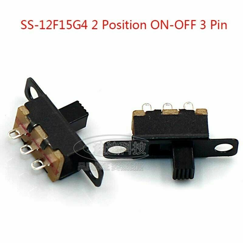 Mini 2 Position ON-OFF 3 Pin Slide PCB Panel Power Micro Switch SPDT Microswitch