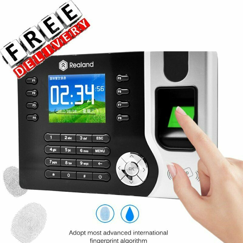 A-C071 Fingerprint Time Clock Recorder Employee Punch Card Attendance Machine WW