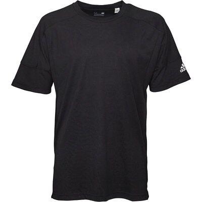 Adidas Sideline Plain Tee Small Black TD083 BB 15
