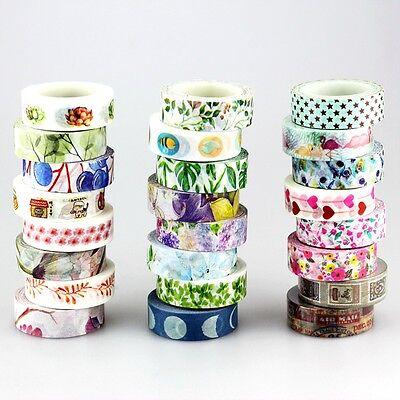 Decorative Tape (Fresh Flower Set DIY Decorative Flamingo Succulent plants Japanese Washi)
