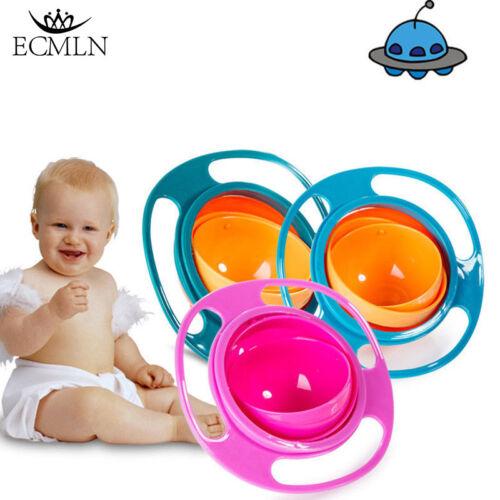 Baby Anti Spill Bowl 360 Rotate Universal Gyro Gravity Kids Feeding Training Cup