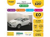 Ford Fiesta 1.0, 1.2, 1.4, EcoB Zetec Titanium WHITE, 3dr FROM £20 PER WEEK!