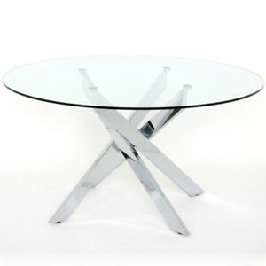 MOBLER - GORGEOUS GLASS DINING TABLE SET FOR SALE