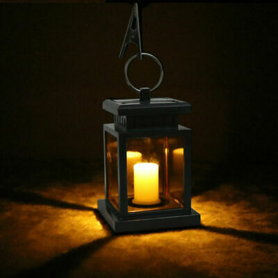 Garden Solar Powered LED Candle Table Lantern Hanging Light Outdoor Coach - Powered Candle Lantern