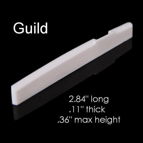 MusicianAtHeart COMPENSATED BONE SADDLE made for GUILD Acoustic Guitar