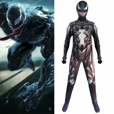 Boys Spider Costume (US Shipping Kids Venom Spider-Man Cosplay Costume Boys Jumpsuit Fancy)