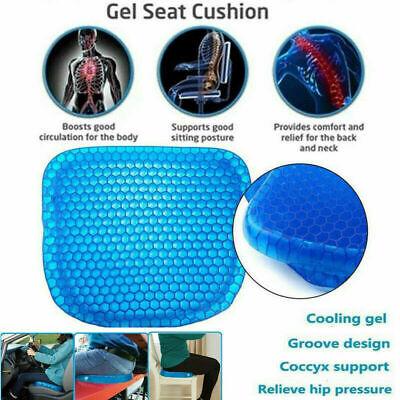 Egg Sitting Gel Cushion Seat Sitter Flex Pillow Back Support