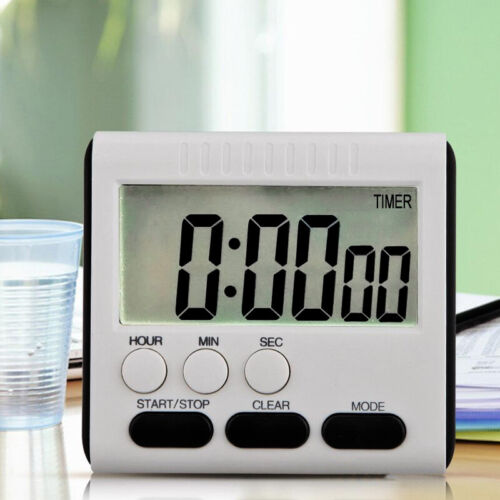 Digital Kitchen Timer LCD Cooking Count Down/Up Loud Alarm M