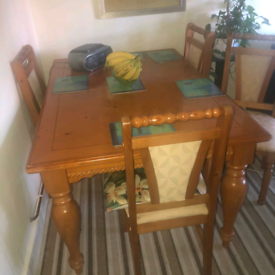 Dining Table & four Chairs £150