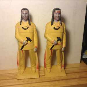 Vintage Plastic Reliable Indian American  Statue and Books