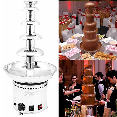 """Large New 5 Tier Stainless Party Hotel Commercial 27"""" 68cm Chocolate Fountain"""