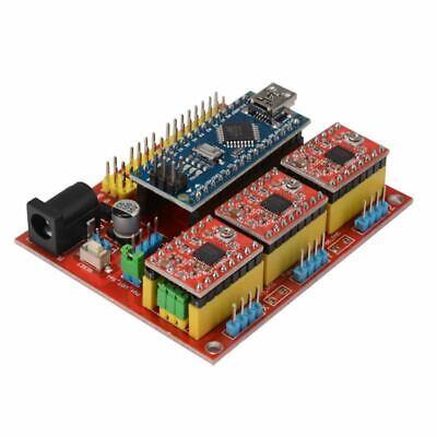 Cnc Shield V4 Expansion Board Nano 3.0 Stepper A4988 Driver For Arduino 3d U1w8