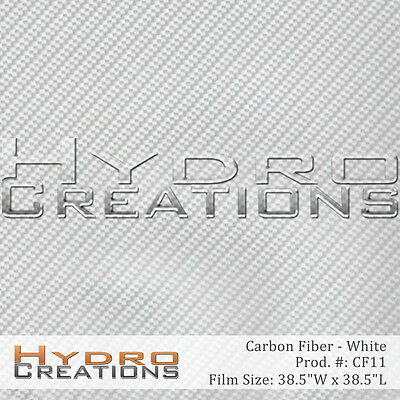 Hydrographic Film Hydro Dipping Water Transfer White Carbon Fiber 38.5 X 38.5