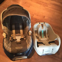 Base for removable baby car seat, (Graco). Great condition