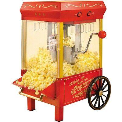 10 Cup Retro Countertop Popcorn Machine Old Fashion Home Kettle Pop Corn Maker