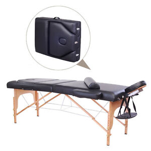 """4"""" Thick Portable Reiki Massage Table 3 Section w/ Pillow"""