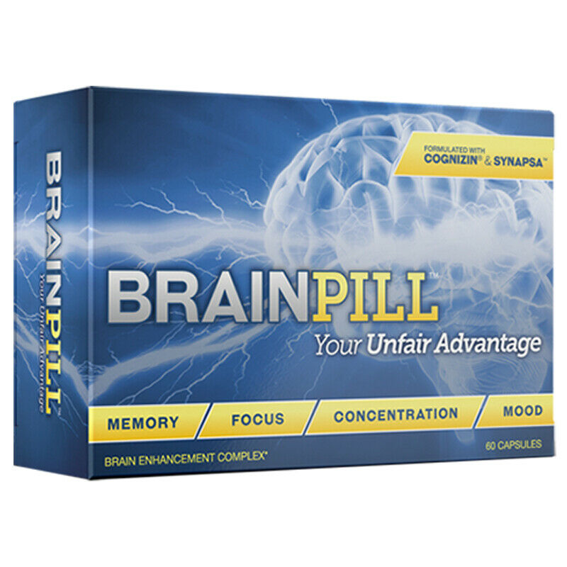BRAINPILL Nootropics Focus Faster Memory Mental Stamina Brain Pill Supplement