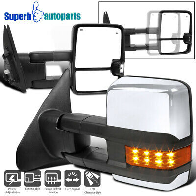 For 2007-2017 Toyota Tundra Power Heated Blins Spot Tow Mirrors w/LED Signals
