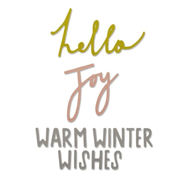 Warm Winter Wishes Sizzix Thinlits Dies x3 Christmas Hello Joy Craft Asylum