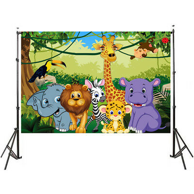 Halloween Background Animation (Happy Birthday backdrop with Animals Cartoon photography studio)