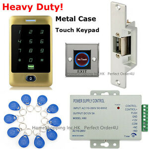 Golden Waterproof RFID Card+Password Door Access Control System+Door Strike Lock