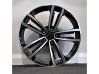 """19"""" 2017 GTD Style Alloys and Tyres. Suit Audi A3, VW MK 5,6,7 Caddy,Golf,Jetta,Passat,Seat (5x112)"""