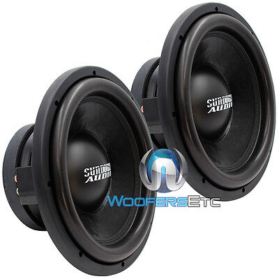 (2) SD-2 12D2 SUNDOWN AUDIO SUBS 1000W SLIM MOUNT 12
