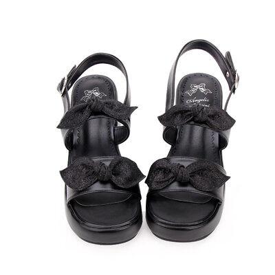 Gothic Lolita Schuhe Shoe Platform Cosplay Kostüm Damen sandals Sandalen Plateau