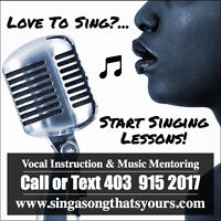Singing Lessons Available - Sign Up Today!