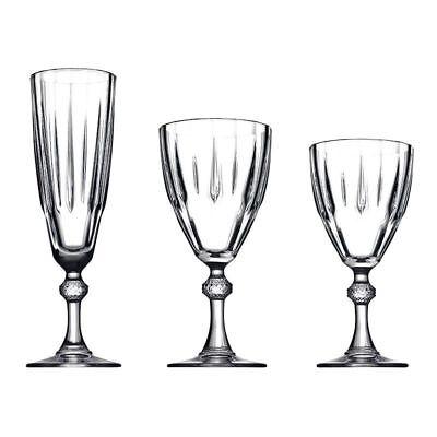 Versace Sapphire 18Pc Elegant Glass Set Champagne Wine Water Glasses Gift Box