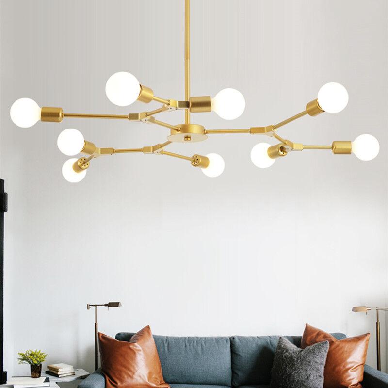 . Details about Large Chandelier Lighting Gold Pendant Light Kitchen Lamp  Modern Ceiling Lights
