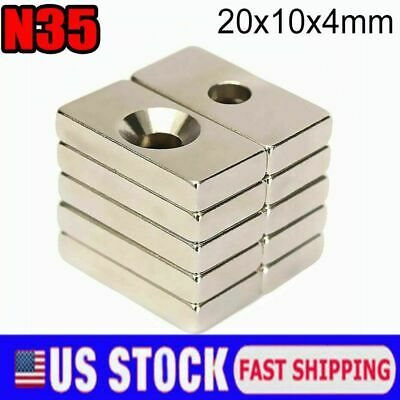 Us Rare Earth Diy Industrial Strong Neodymium Magnet 20mm10mm4mm With Hole