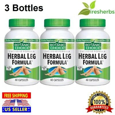 #1 BEST HERBAL LEG FORMULA Vitamin E Folate Blood Circulation Supplement