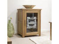 Opus Solid Oak HIFI TV Console Cabinet - Brand New Ex Display