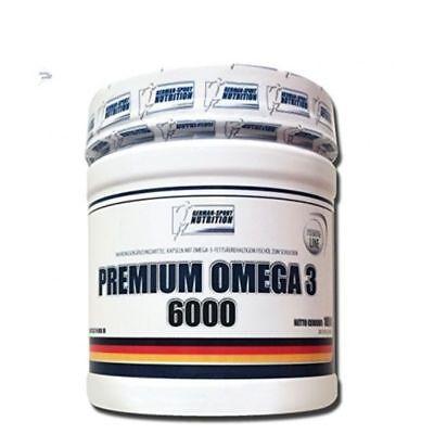 OMEGA 3 Fettsäuren 6000 - LACHSÖL 1000 mg  FISCHÖL 200 KAPSELN  EPA & DHA - Omega 3 Dha Kapseln