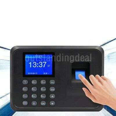 F01 Biometric Fingerprint Time Clock Employee 2.4 Screen Software-free